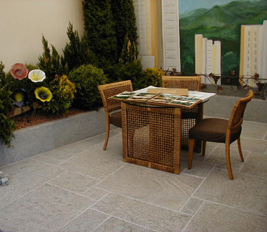 Soapstone Tile Patio