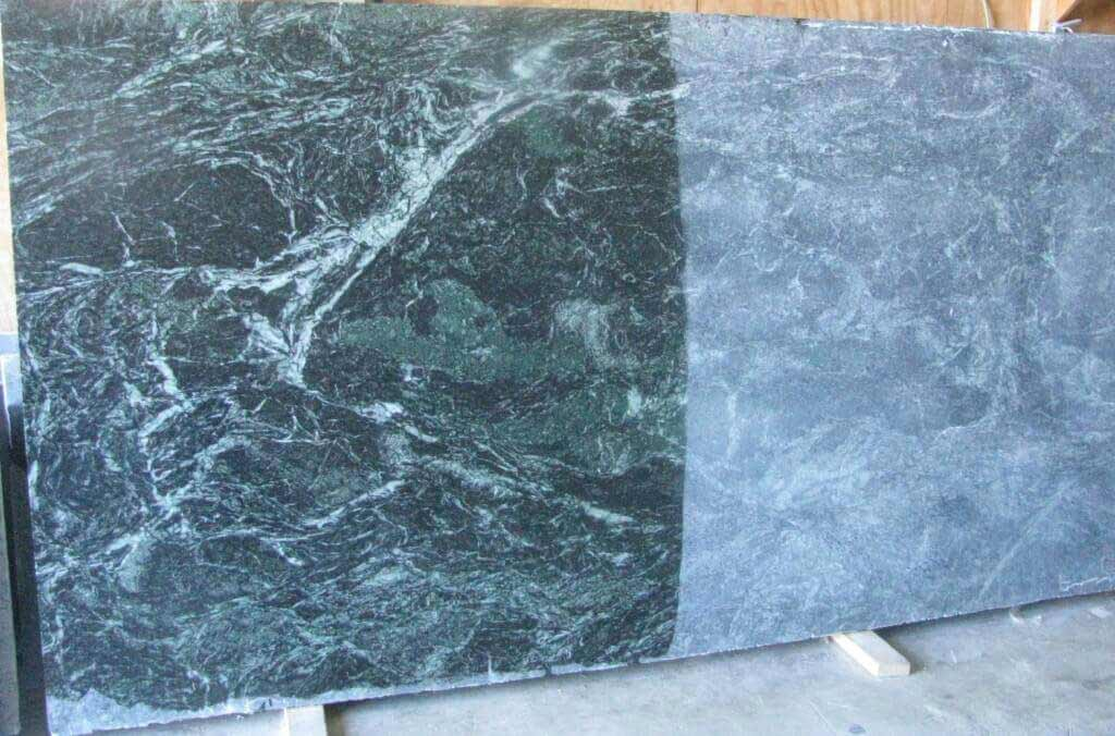 Monsoon Wave Soapstone - showing both oiled and unoiled sufaces