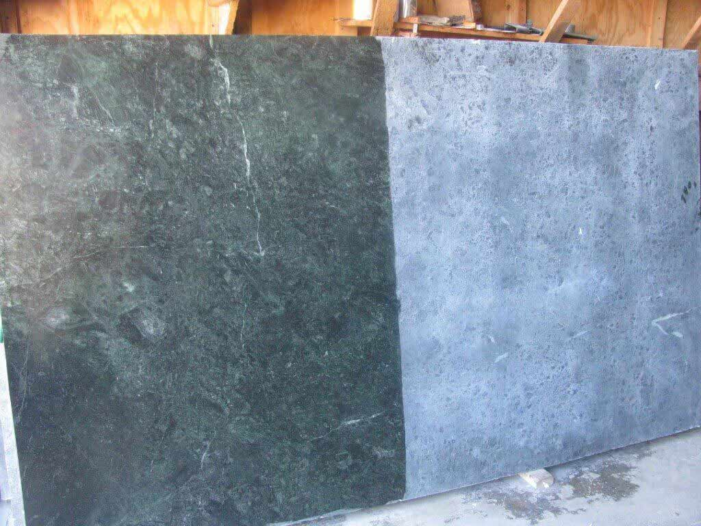 GOA Soapstone - Showing both oiled an unoiled surfaces