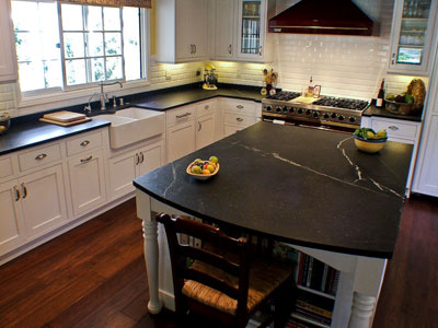 Beau ... Soapstone Counter Surfaces. Chemicals And Acids Do Not Harm It.  However, We Do Recommend That You Use Regular Soap And Water Because  Harsher Solvents ...