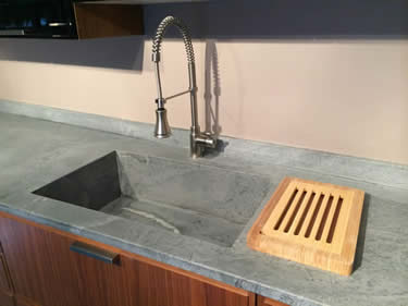 Soapstone Integral Kitchen Counter Sinks